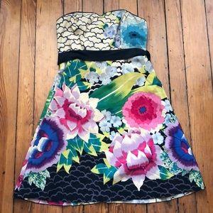 Anthro Moulinette Soeurs Painted Lotus Dress